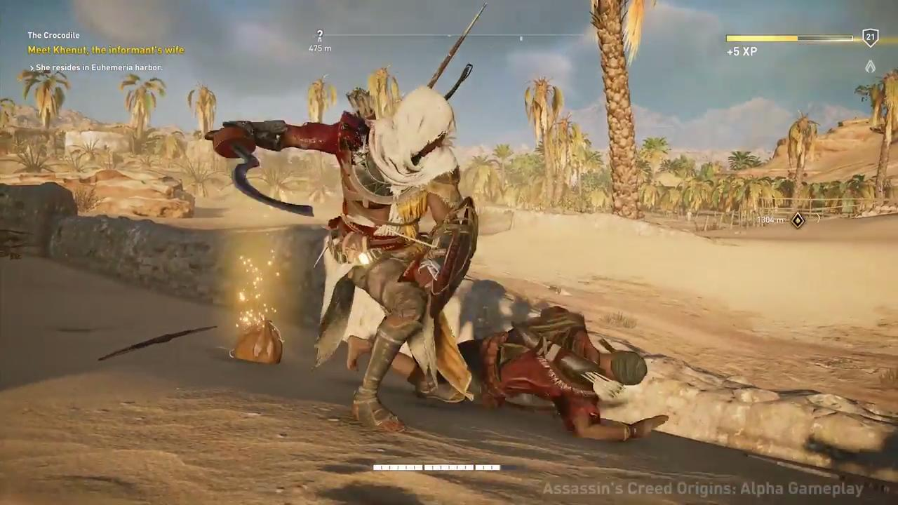 How Assassin S Creed Origins Combat Shatters Tradition Game