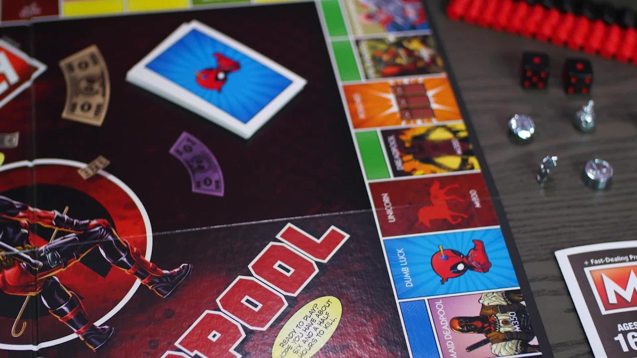 Marvel Deadpool Edition Monopoly Game